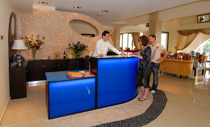 Astris Notos Hotel tasos letovanje apartmani grcka recepcija