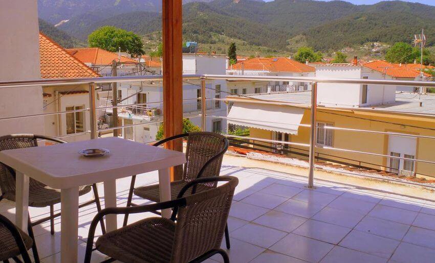 Edelweiss Studios grcka apartmani letovanje terasa