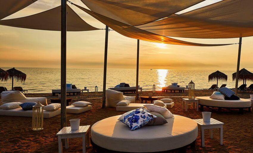 Ilio Mare Hotel tasos grcka letovanje plaza zalazak sunca