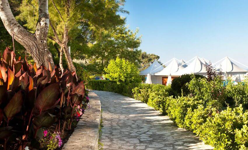 Makryammos Bungalows Hotel tasos grcka letovanje bar na plazi
