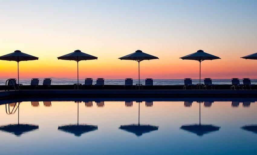 Makryammos Bungalows Hotel tasos grcka letovanje zalazak sunca
