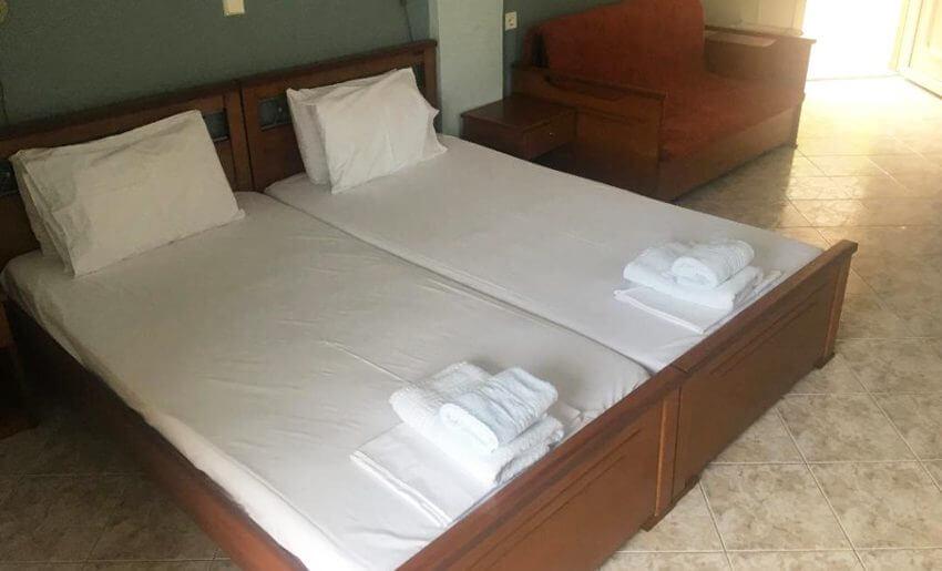Vergina Vila Tasos grcka letovanje apartmani dvokrevetna soba
