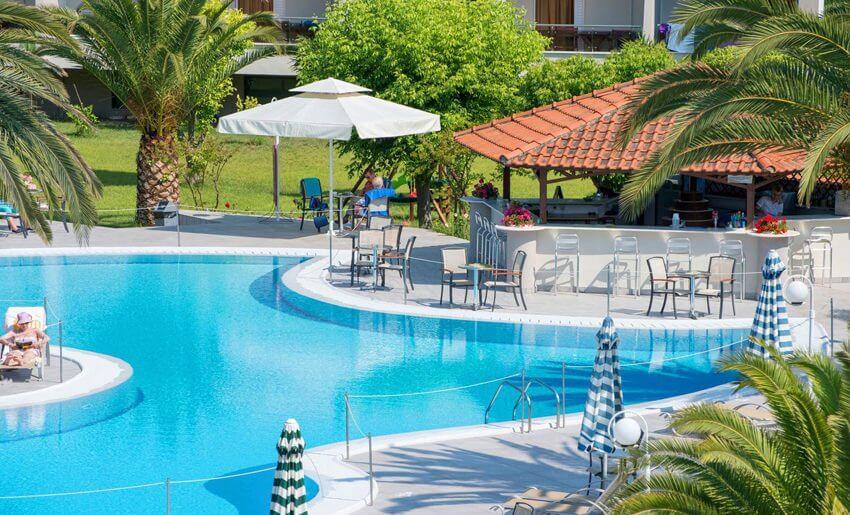 hotel aethria tasos smestaj grcka letovanje bazen i bar