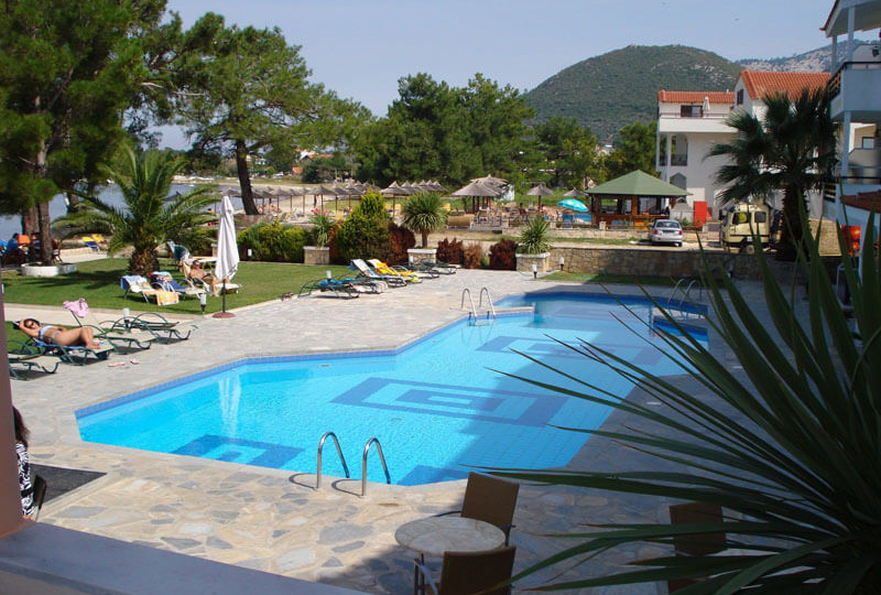 hotel rachoni resort tasos grcka letovanje bazen