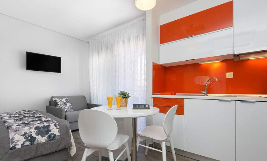 marys residence suites hotem grcka apratmani letovanje kuhinja