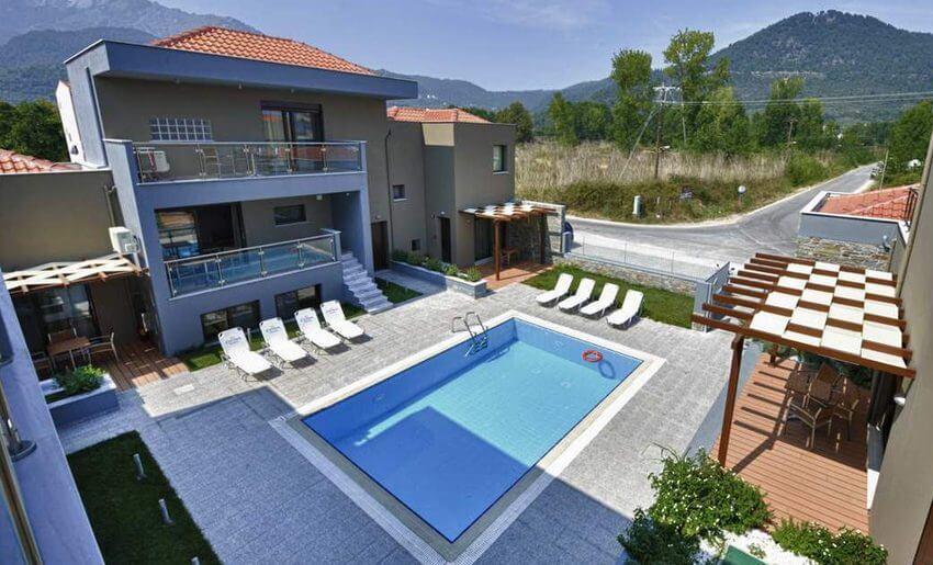 marys residence suites hotem smestaj grcka apratmani letovanje bazen