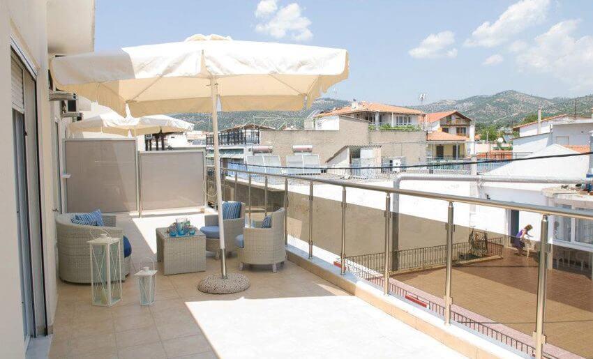 Afrodite Studio Tasos grcka letovanje balkon