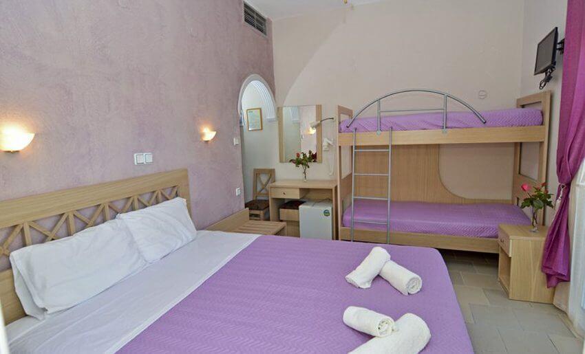 Agali Hotel limenarija tasos cetvorokrevetna soba