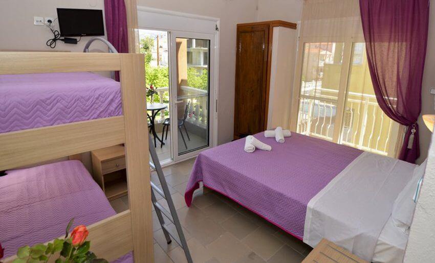 Agali Hotel limenarija tasos soba cetvorokrevetna