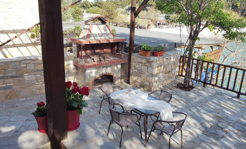 Aliki Stone House Tasos grcka terasa