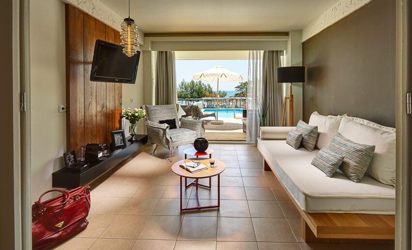 Blue Dream Palace Hotel Limenaria bazen apartman