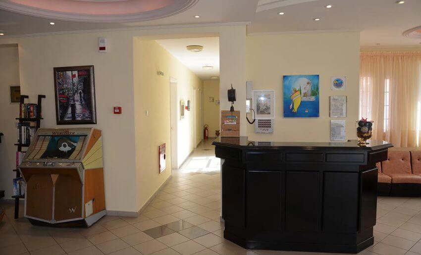 Egeo Hotel Tasos grcka letovanje recepcija