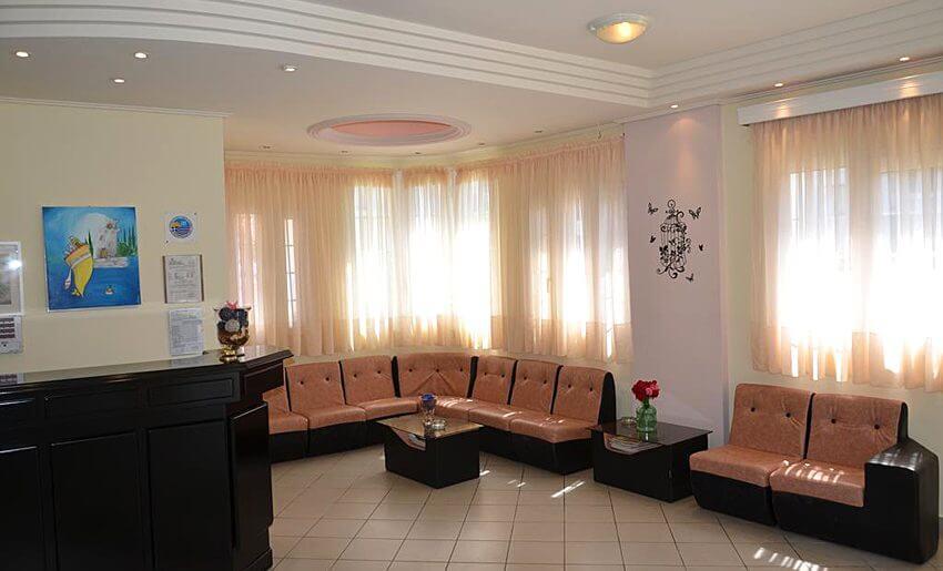 Egeo Hotel Tasos grcka letovanje smestaj lobi