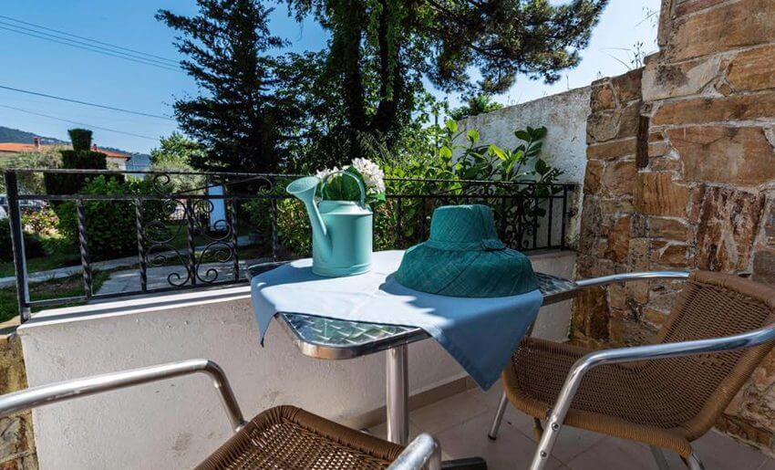 Hotel Blue Bay golden beach tasos terasa