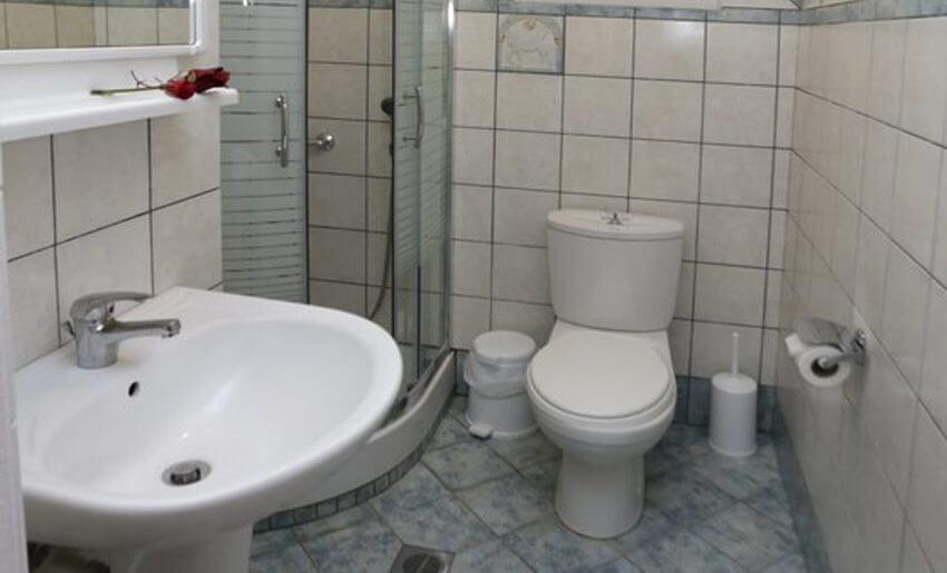 Mitos BungalovI Potos Tasos apartman kupatilo