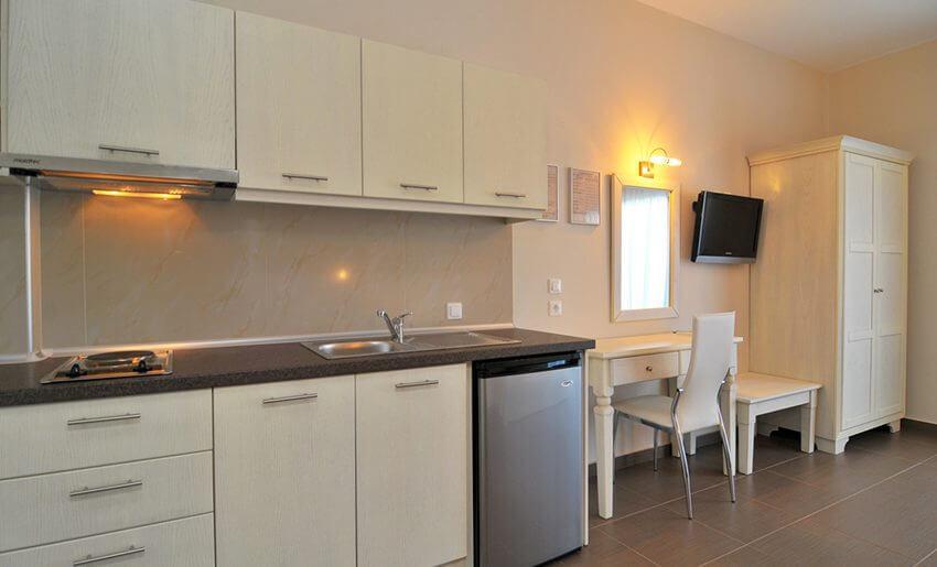 Ntinas Filoxenia Apartments deslux soba kuhinja