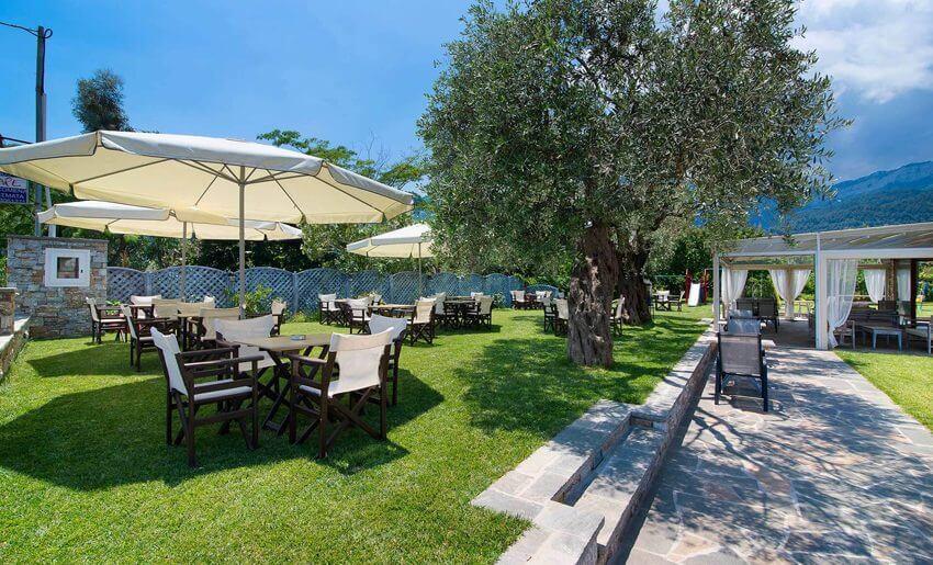Vila Escape Golden Beach tasos restoran