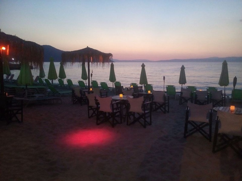 drift beach bar limenas tasos zalazak sunca