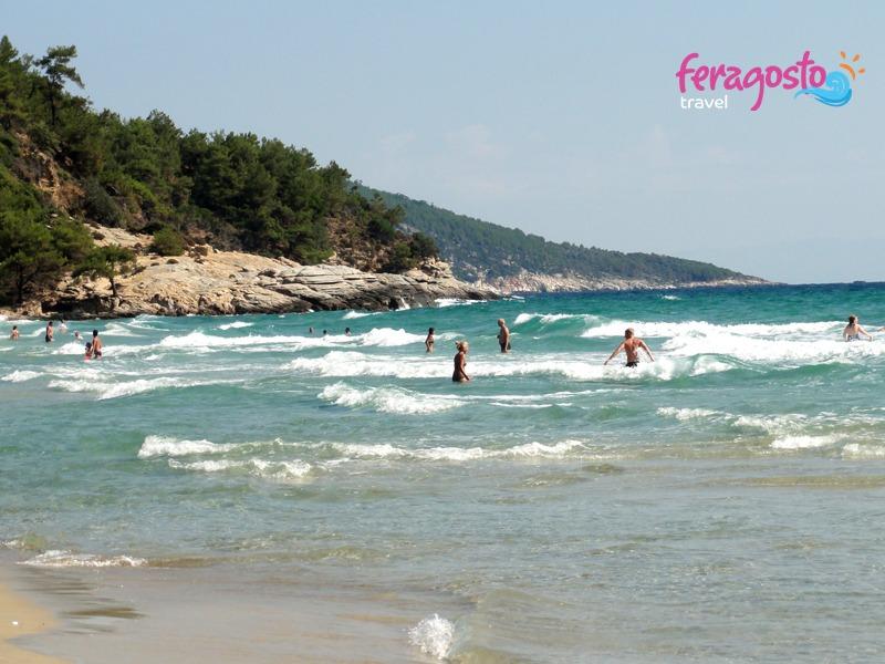paradise beach tasos plaze