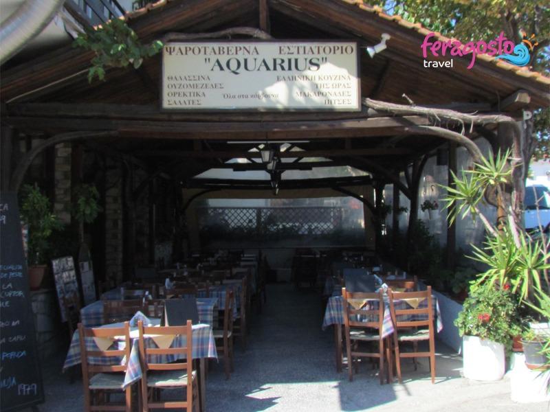 taverna aquarius tasos grcka leto
