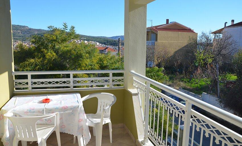 Nostos Vila Tasos grcka leto terasa