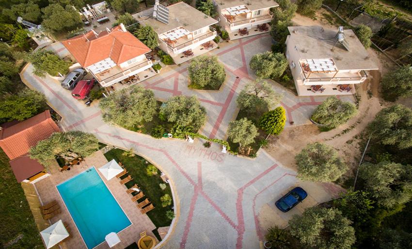 mythos bungalows pool area potos thassos 2