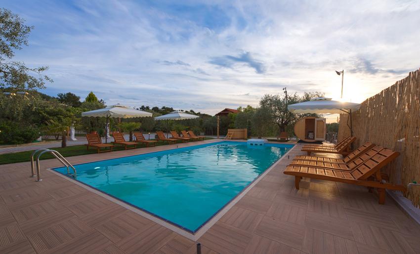 mythos bungalows pool area potos thassos 6