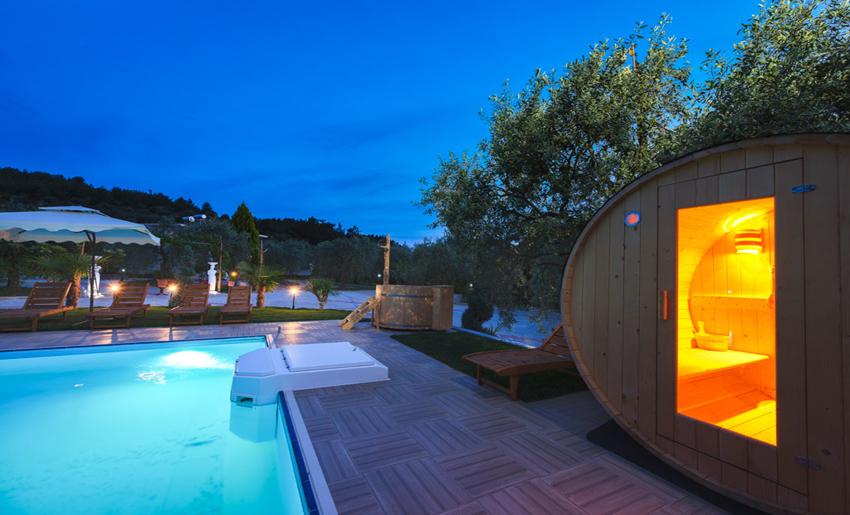 mythos bungalows pool area potos thassos 7