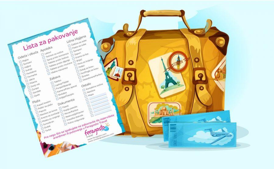 Lista za pakovanje Feragosto travel