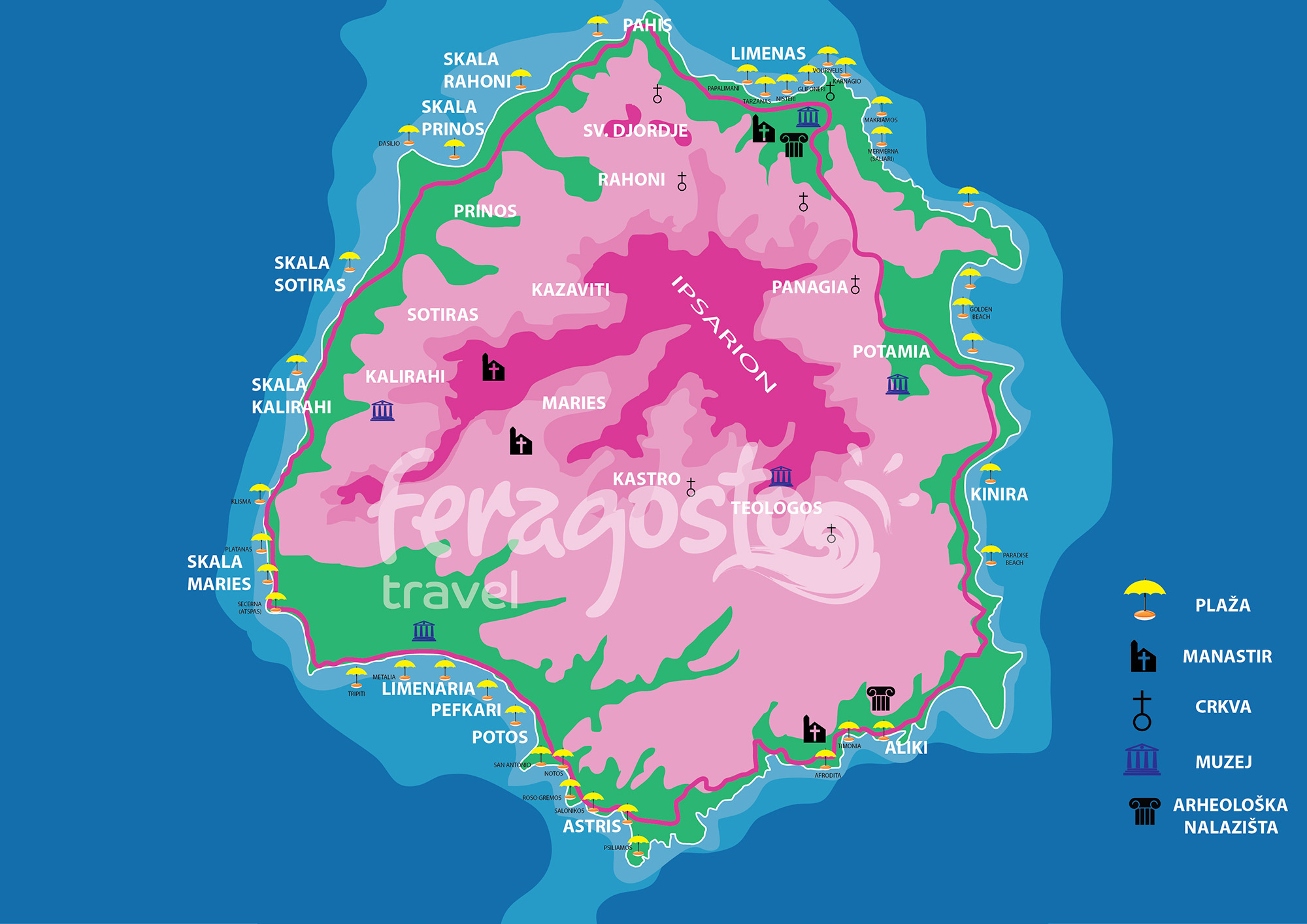 TASOS mapa